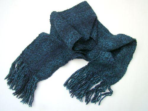 Blue Tweedy Scarf